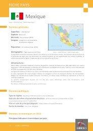 Fiche pays Mexique, 2012 - Veille info tourisme