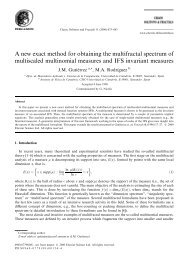 A new exact method for obtaining the multifractal spectrum of ...