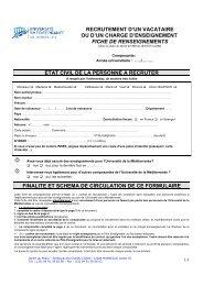 Fiche individuelle de recrutement - Timone.univ-mrs.fr - Université ...