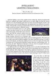 INTELLIGENT LIGHTING CHALLENGES Nigel E. Pollard