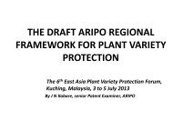 aripo - The East Asia Plant Variety Protection Forum