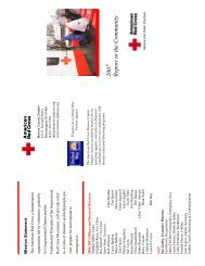 2007 R eport to the C om m unity - American Red Cross