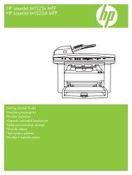 HP LaserJet M1522n MFP Getting Started Guide - XLWW