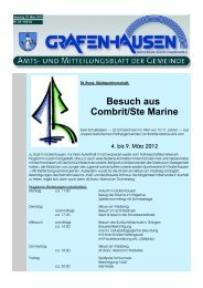 Besuch aus Combrit/Ste Marine - Gemeinde Grafenhausen