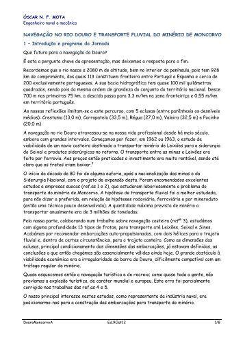 Eng.Oscar Mota texto - Sociedade de Geografia de Lisboa