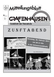 ZUNFTABEND - Gemeinde Grafenhausen