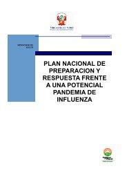 Plan Nacional de Preparación y Respuesta Frente a una Potencial ...