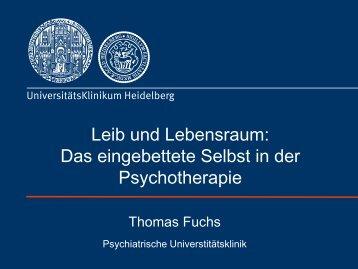 Vortrag Prof. Thomas Fuchs - PTK Bayern