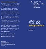 Leitlinien und Standards für 2002 Suchtprävention - Midames