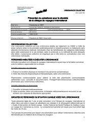 Ordonnance n o 42 - Prévention du paludisme pour ... - Csss-iugs.ca