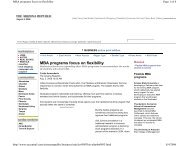 MBA programs focus on flexibility - Eller College of Management ...