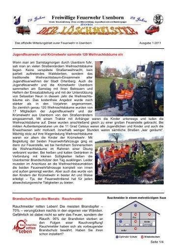 Löschmeister Ausgabe 01/2011 - Freiwillige Feuerwehr Usenborn eV