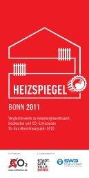 Broschüre Heizspiegel Bonn 2011