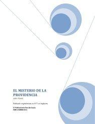 EL MISTERIO DE LA PROVIDENCIA - Iglesia Reformada
