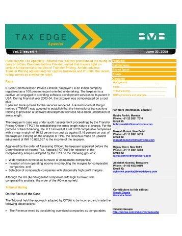 BMR Tax Edge - BMR & Associates