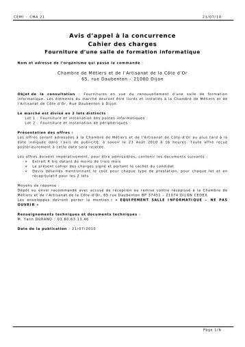 Cahier des charges pour pont l vateur 2 colonnes for Chambre 507 avis