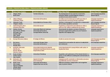 papers / presentacions orals / presentaciones orales - Universitat de ...