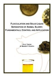 Flocculation and solid-liquid separation of animal slurry ... - inbiom.dk