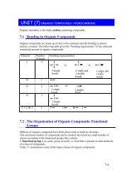 unit (7) organic compounds