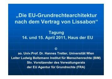EU - Ludwig Boltzmann Institut für Menschenrechte