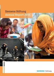 Siemens Stiftung Annual Report 2011