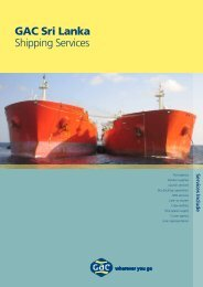 GAC Sri Lanka Shipping Services