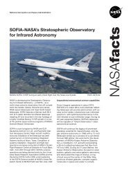 SOFIA-NASA's Stratospheric Observatory for Infrared Astronomy