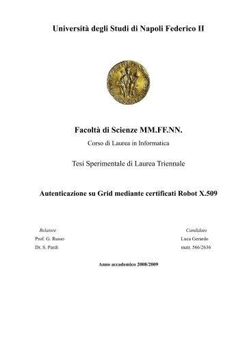 Università degli Studi di Napoli Federico II Facoltà di ... - Scope
