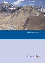 Annual Report 2000 in PDF - Antofagasta plc