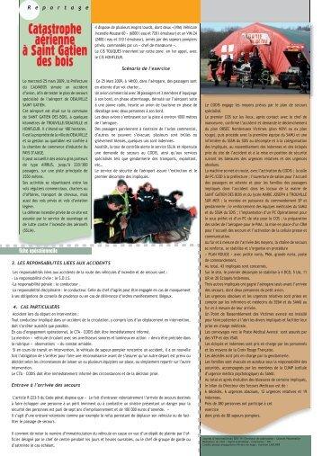Catastrophe aérienne à Saint Gatien des bois - SDIS14