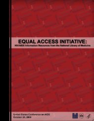 Equal Access Initiative: HIV/AIDS Information Resources from the ...