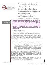 réseau public régional de formation professionnelle - Centre Inffo