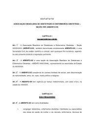 Modelo Estatuto Social ABENFO seccional - ABENFO-Nacional