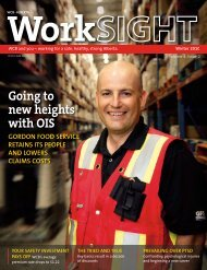 WorkSIGHT Winter 2010 - Workers' Compensation Board