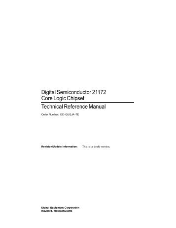 21172 Core Logic Chipset Technical Reference Manual