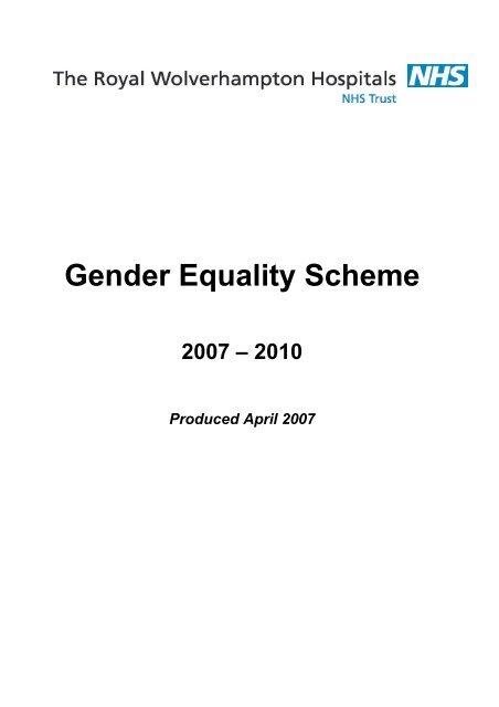 Gender Equality Scheme - The Royal Wolverhampton Hospitals ...