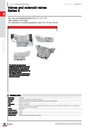 CONTROL 2 Valves and solenoid valves Series E