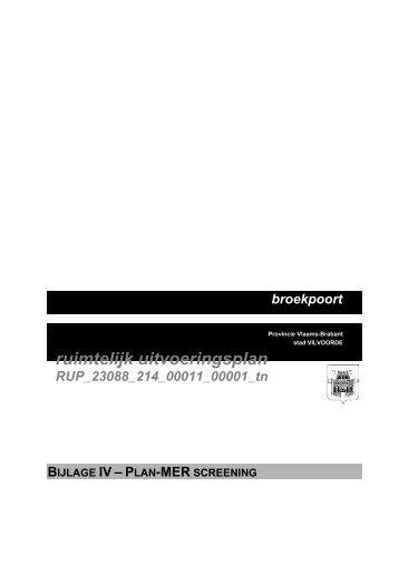 Plan-MER screening - Vilvoorde
