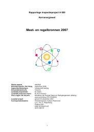 Kernenergiewet - Meet- en regelbronnen 2007 ... - Inspectie SZW