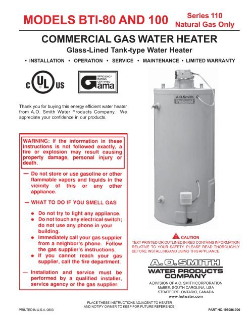 ao smith water softener manual
