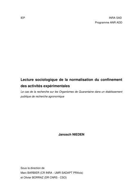 Rapport-Nieden - INRA Montpellier