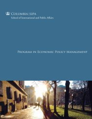 PEPM brochure - School of International and Public Affairs ...