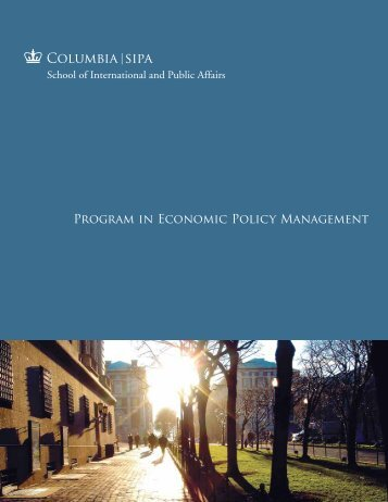 PEPM brochure - School of International and Public Affairs ...