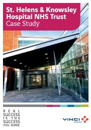 St. Helens & Knowsley Hospital NHS Trust Case Study - i-FM.net