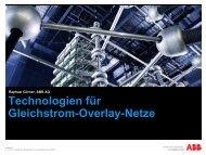Technologien für Gleichstrom-Overlay-Netze - ABB