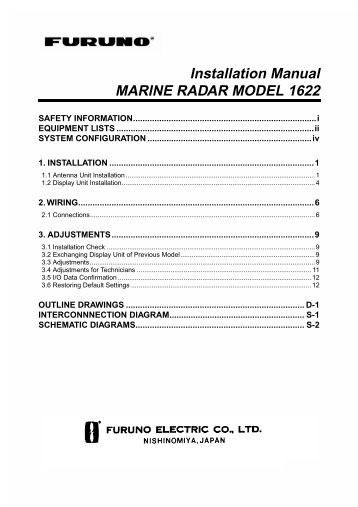 marine radar auto plotter psi company installation manual marine radar model 1622 psi company