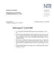 Delårsrapport 1. kvartal 2005 - NTR Holding