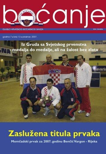 glasilo 13 - Hrvatski boćarski savez