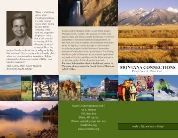 MONTANA CONNECTIONS - South Central Montana AHEC