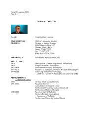 Craig B. Langman, M.D. Page 1 CURRICULUM VITAE NAME: Craig ...
